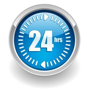 24 hours logo